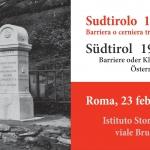 Sudtirolo 1918-2018. Barriera o cerniera tra Austria e Italia?