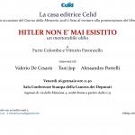 """Presentazione libro """"Hitler non è mai esistito"""""""