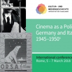 Cinema as a Political Media. Germany and Italy compared, 1945–1950s
