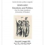Emotions and Politics