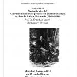 Nazioni in ritardo? Aspirazioni unitarie e processo di costruzione della nazione in Italia e Germania (1848 -1890)