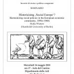 Historicising 'Social Europe'?