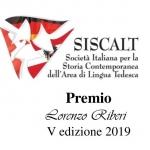 """Bando Premio SISCALT """"Lorenzo Riberi"""" – V edizione 2019"""