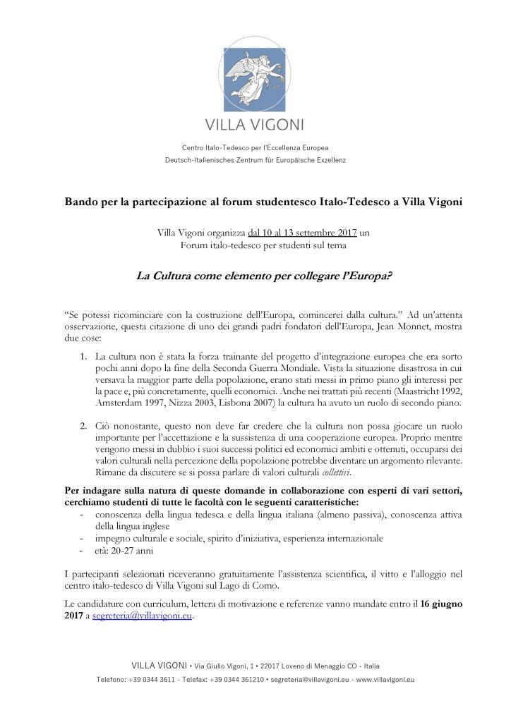 Villa Vigoni - bando forum per studenti 2017-page-001