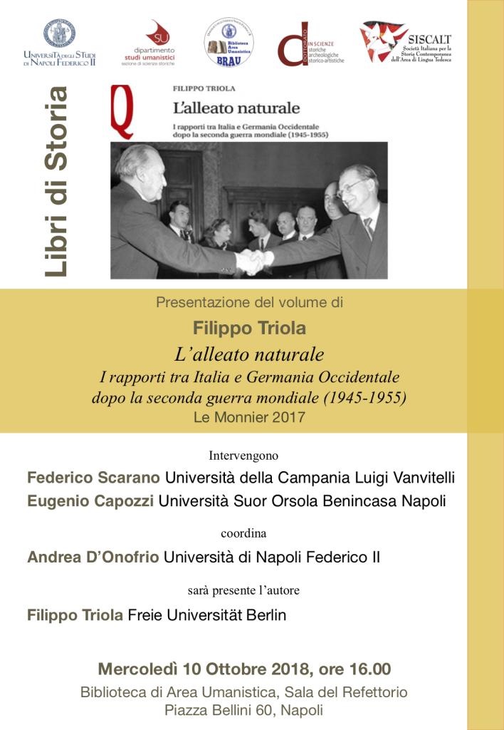 Locandina presentazione libro Triola
