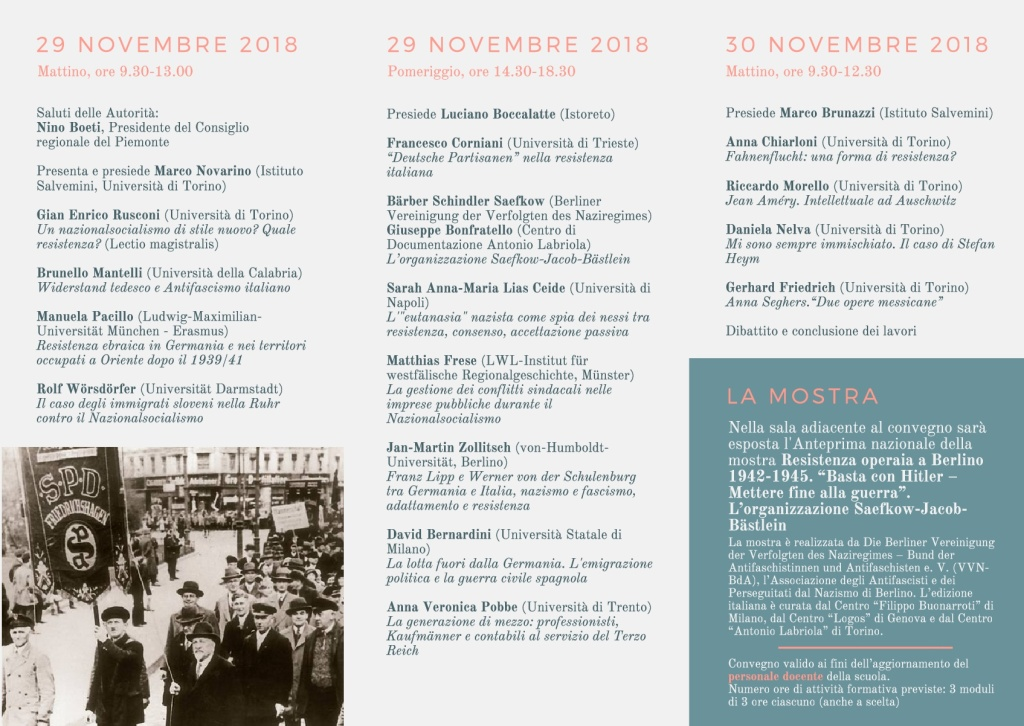 Convegno TO Widerstand 2