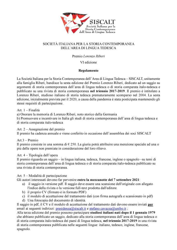 Premio Sisscalt Lorenzo Riberi Regolamento 2017-2019-page-001